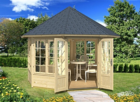 gartenpavillon rund holz rk88 hitoiro. Black Bedroom Furniture Sets. Home Design Ideas
